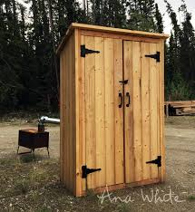 ana white small outdoor shed or closet converted into smokehouse