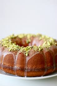 Lemon Yogurt and Pistachio Bundt Cake