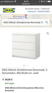 ikea malm schlafzimmer kommode 3 schubladen 80x78x48 cm weiss