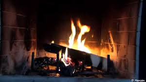 1 Hour Burning Logs In Fireplace HD