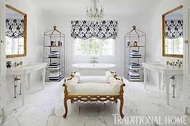 Royal Blue And Silver Bathroom Decor by Decorating Ideas For Blue And White Bathrooms Traditional Home