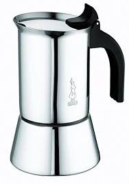 Bialetti Elegance Venus Induction 10 Cup Stainless Steel Espresso Maker By La Cafetiere