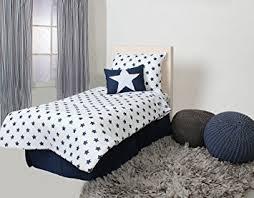 Amazon Bacati Stars Muslin 4 Piece Toddler Bedding Set Navy