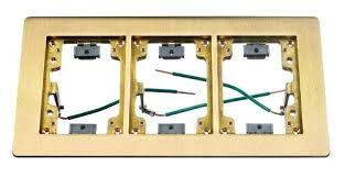Hubbell Floor Box Covers And Accessories by Hubbell Wiring Systems Sb3085w Brass 3 Gang Floor Box Rectangular