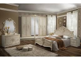 schlichter schlafzimmer set asti 6 teilig beige schrank 6 türig bett 160x200 cm 2x nachttisch kommode spiegel