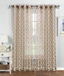 Moroccan Lattice Curtain Panels by Amazon Com Window Elements Quatrefoil Printed Sheer Extra Wide 54