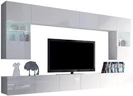 moderne wohnwand calabrini i anbauwand mediawand hängevitrine tv lowboard wandregal wohnzimmerschrank fernsehschrank ohne beleuchtung