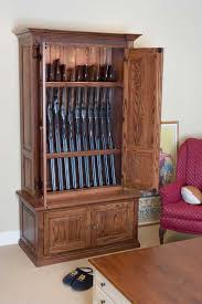 Free Wooden Gun Cabinet Plans by Wood Gun Cabinets Plans Woodworking Plan Usa