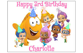 Bubble Guppies Bathroom Decor by Bubble Guppies Edible Cake Topper Decoration Party Birthday