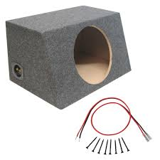 100 Speaker Boxes For Trucks Sealed 12 Inch Car Audio Hatch Subwoofer Enclosure Bass Sub