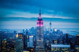 sky city new york city city lights empire state building wallpaper