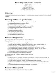 Sample For Assistant Accounting Clerk Resume 11 Excellent Objective And Summary Of Skills Qualifications Resumes 1 A Present Likewise