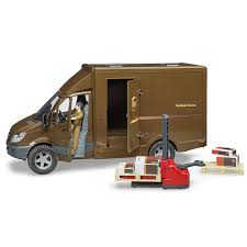 100 Ups Truck Toy MB Sprinter UPS With Pallet Jack Bruder S Pumpkin And Bean