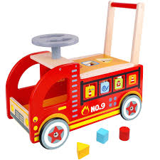 100 Fire Truck Ride On Amazoncom Pidoko Kids Wooden Push And Pull