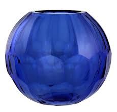 casa padrino glas vase blumenvase blau ø 19 x h 16 cm luxus wohnzimmer deko