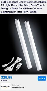 22 inch cabinet led t5 light bar 2pk white features a