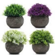 bunte mini kunstpflanzen 4 stk künstliche real de