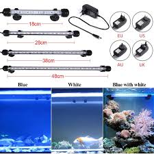 blue and white light 18 48cm new waterproof fish tank l plant