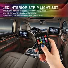 RGB Car Atmosphere LED Strip Light Interior RF Wireless Remote ...