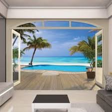 Wall Mural Decals Beach by Outdoor Fence Murals Mural Mural On The Wall Inc Backyard