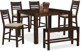 Tribeca Counter-Height Table, 4 Side Chairs And Bench - Tobacco | 1 ... Make Your Dinner Table A Place To Tarry With These Stylish Seats 10 Best Ding Chair Seat Covers 2019 Shopping Guide Bestviva Haizhen Chairs Sofas Stools Elderly Solid Wood Home How To Help Someone Stand Up Ask The Audience Go With My New Ding Table Emily Lazy Lounge Recling Nap For Indoor Tribeca Counterheight 4 Side And Bench Tobacco 1 Comfortable For Comfortable Chairs Home Room Arms Wooden Simple Round Casters Fniture Page1 Wheels Task