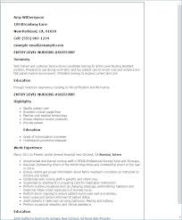 Example Of Cna Resume Nice Sample Template