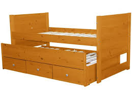Captains Bed Twin Honey 3 Drawers $329