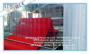 China Plastic PVC Carpet Manufacturing Machine Coil Roll Producing Plant Supplier