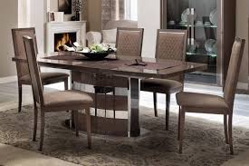 ESF Platinum Slim High Gloss Silver Birch Dining Room Set 7 Pcs Made In Italy Reviews