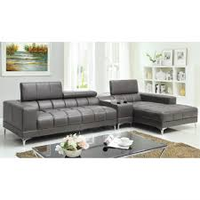 Grey Leather Sectional Living Room Ideas by Cool Modern Living Room Design Featuring Oregon Black Italian
