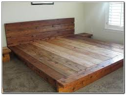 Diy Platform Bedbeauteous Beauteous Bed Rustic