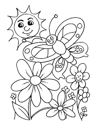 Beautiful Spring Day Coloring Page