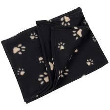 plaid noir canapé couverture polaire plaid pour chien 70 x 70 cm panier