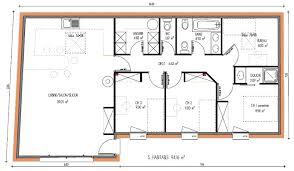 plan maison contemporaine plain pied 3 chambres plan maison moderne 3 chambres 10 de plain pied ooreka systembase co