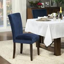 Navy Leather Dining Chair Blue Parsons Chairs Parson Covers Room M3020