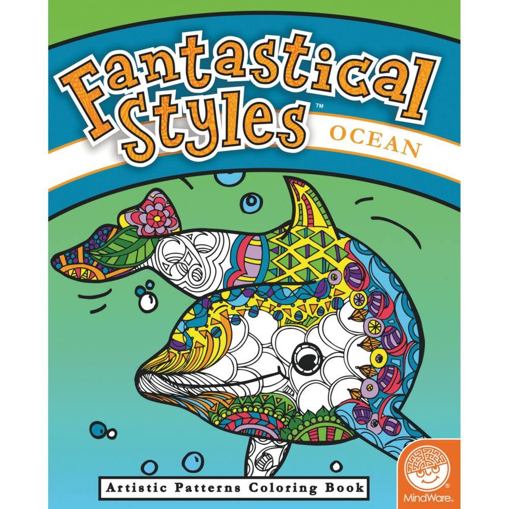 MindWare Fantastical Styles Ocean Coloring Book