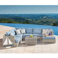 Outdoor Deep Seating Sectional Sofa by Seating Sets Costco