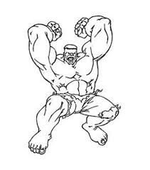 Hulk Coloring Pages For Kids Printable