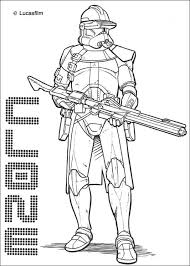Star Wars The Clone Coloring Pages Print Out