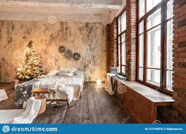 100 Brick Loft Apartments Style Bed In The Bedroom High Large Windows