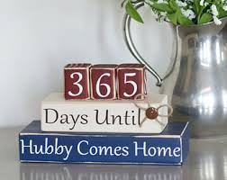 Countdown Military Blocks Deployment Days Until Hubby Comes Home