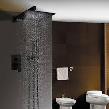 duscharmatur unterputz schwarz im badezimmer