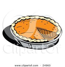 Fresh Thanksgiving Pumpkin Pie In A Pan Missing e Slice by Andy Nortnik