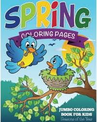 Interesting Design Ideas Jumbo Coloring Books Great Deal On Spring Pages Book For Kids