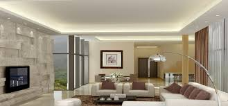 spacious ceiling designs for living room with white accents color