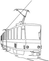 Electric Train Coloring Page Color