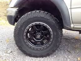 100 17 Truck Wheels Fuel Trophy On Tacoma S Accessories