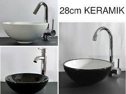 keramik aufsatz waschbecken klein waschschale 28cm rund