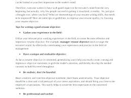Objective For Resume Any Job Sample Of Career In Objectives