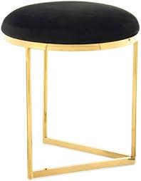 hocker edel modern gold rund wohnzimmer deko sitzhocker pouf